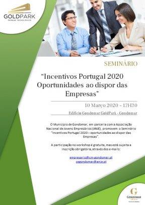 """Seminário """"Incentivos Portugal 2020 – Oportunidades ao dispor das Empresas"""""""