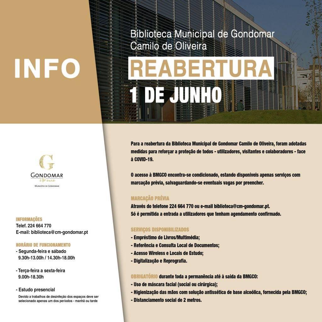 Reabertura da Biblioteca Municipal de Gondomar Camilo de Oliveira 1