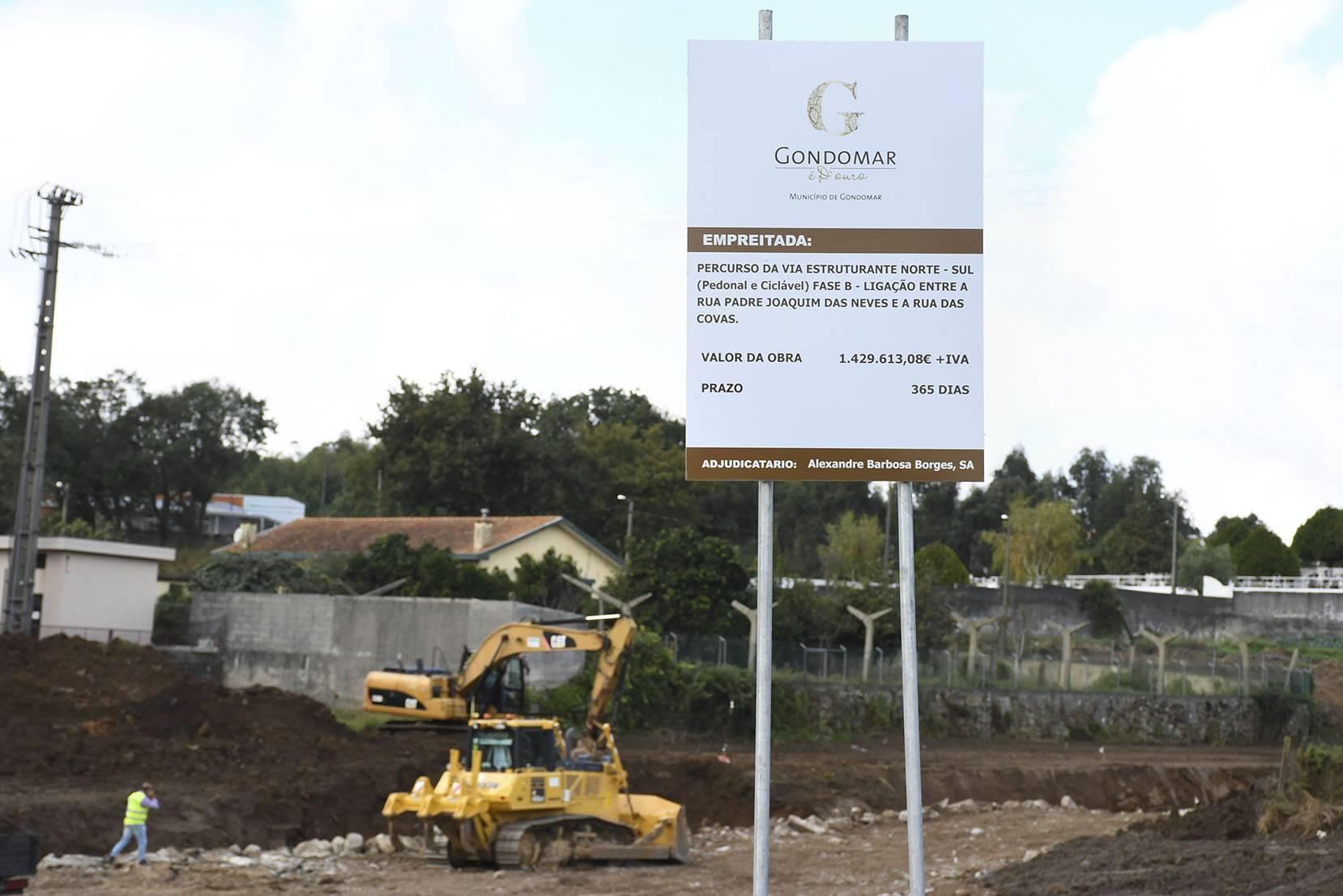 gondomar, inicio de obras da via estroturante norte_sul 06/10/2020 j.paulo coutinho / CMG