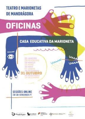 """Casa Educativa da Marioneta – """"MÁSCARAS"""" – Oficina de criação de máscaras teatrais"""