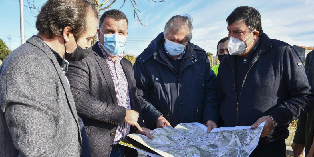 Visita às obras de construção da Via Estruturante Norte-Sul