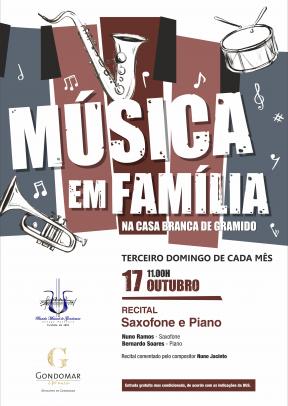 Música em Família – Recital de Saxofone e Piano